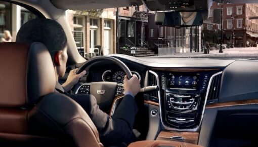 Close up detail of Cadillac Escalade Front Interior